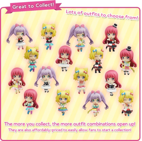 Great to Collect! The more you collect, the more outfit combinations open up! They are also affordably-priced to easily allow fans to start a collection!