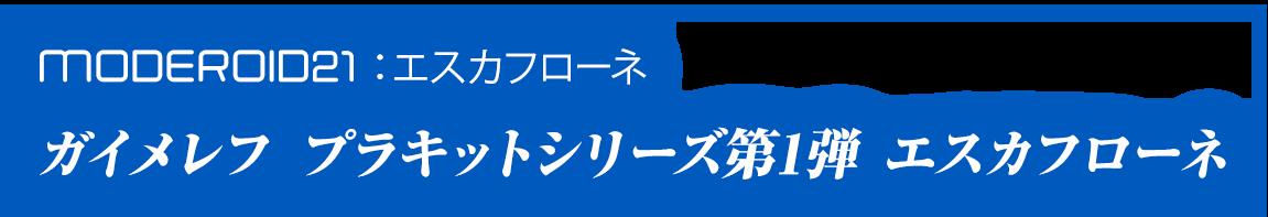 MODEROID21:エスカフローネ ガイメレフ プラキットシリーズ第1弾 エスカフローネ